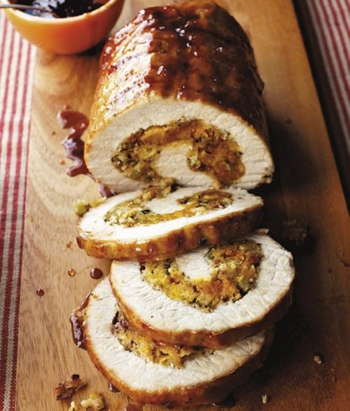 Recipe Blue Ribbon Stuffed Pork Loin With Apricot Balsamic Glaze