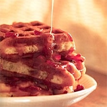 pecan waffles with caramel bacon sauce yummy crunchy waffles are ...